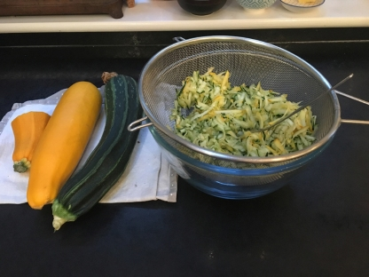 Courgette bread to-be
